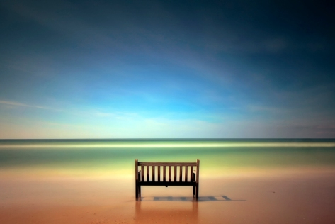 Bench with sea view Photo by: Keess Mans